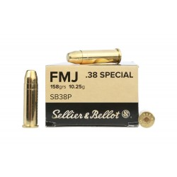 Amunicja SELLIER & BELLOT 38 SPECIAL FMJ 158grs/10,25g