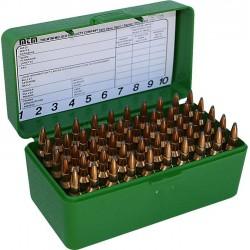 Pudełko na amunicję kulową RS-S-50-10 MTM (50szt,7,62x39,6mmNormaBR...) zielone